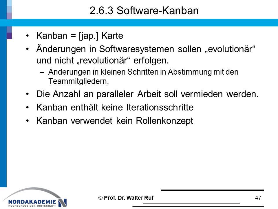 2.6.3 Software-Kanban Kanban = [jap.] Karte